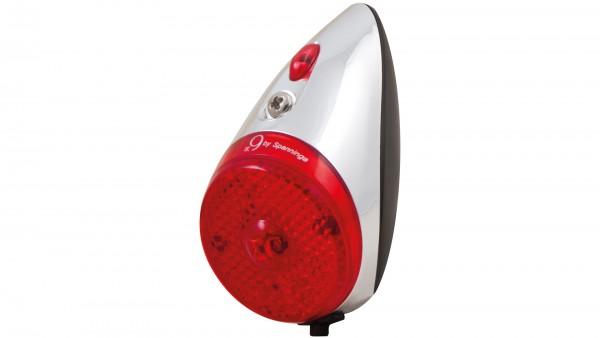 """SPANNINGA Batterie-LED-Rücklicht """"Nr 9 XB""""; SB-verpackt, Schutzblechbefestigung, mit deutschem Prüfzeichen; Batteriebetrieb, 1 rote LED, äußerst kompa"""