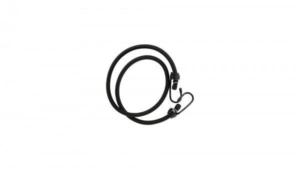 """CONTEC Spanngurt """"String""""; SB-verpackt, rund, extra starker Haken, Nylon-Ummantelung, 10 x 1000mm, schwarz"""