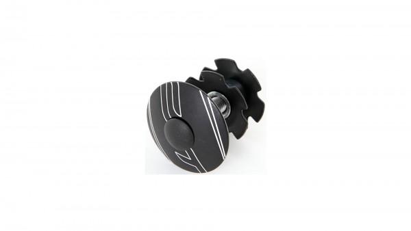 "CONTEC Ahead-Kralle ""Select""; 1 1/8"" SB-verpackt, mit Aluminium-Kappe und Schraube, Limousine black"
