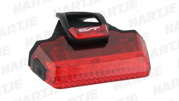 """CONTEC Batterie-LED-Rücklicht """"Speed-LED""""; SB-verpackt, mit deutschem Prüfzeichen; 7 Liteon LED, Sichtbarkeit im 300° Radius, inkl. 1x AAA Micro Batte"""