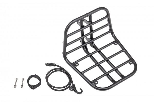 """TERN V.R.-Gepäckträger """"Hauler Rack""""; Aluminium, schwarz, inkl. Spanngurt und Befestigungsmaterial, Tragfähigkeit max. 20kg, Abmessung (LxBxH) 32x31,5"""